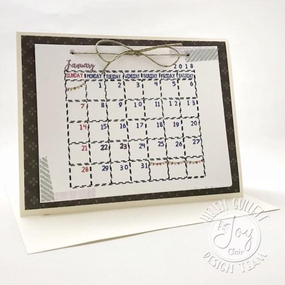 DIY Easel Calendar Card
