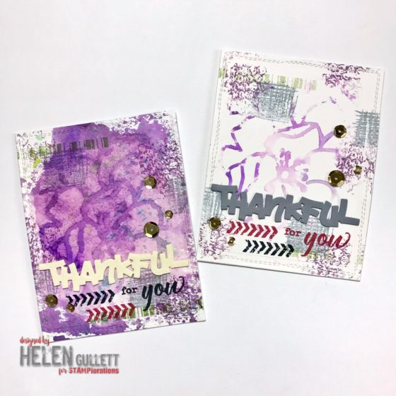 Thankful For You Mixed Media Card In Two Ways