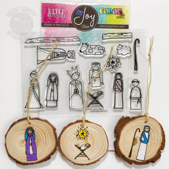 Joy Clair November New Release Blog Hop - DIY Christmas Nativity Ornament