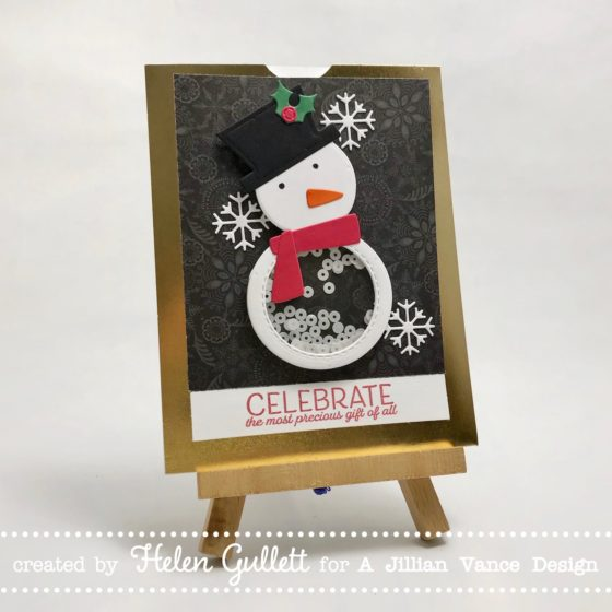Snowman Shaker Pop Up Card