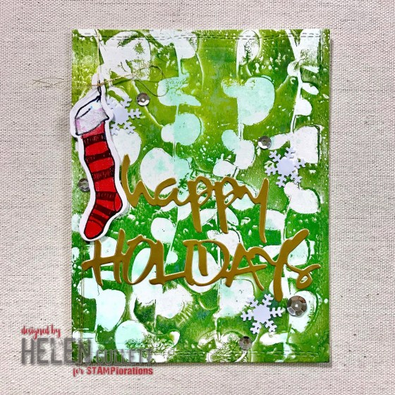 CUTplorations December Challenge: Mixed Media Happy Holidays Card