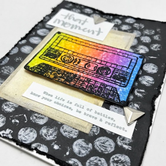 Precious Remembrance Shop New Stamp Blog Hop and Giveaway - Daily Thoughts Mixed Media Card