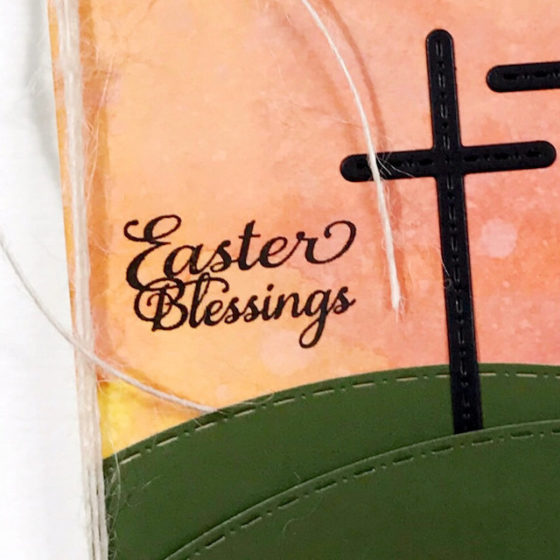 AJVD Easter Blessings CAS Card - by Helen Gullett