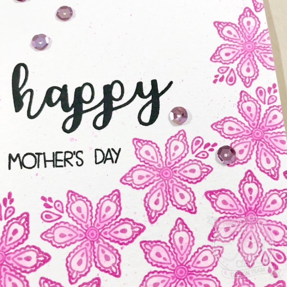 Mother's Day Card and Gift Bag with Joy Clair clear stamps, VersaFine Clair Ink Pads, and Leisure Arts Watercolor Colored Pencils