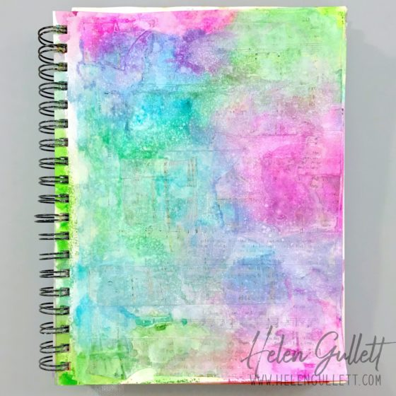 Uniquely You Art Journal Mixed Media Project Using Graciellie Design Digital Stamp