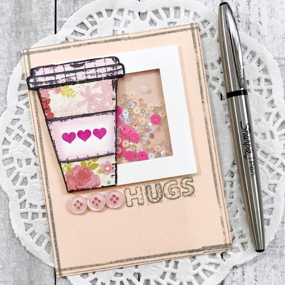 Precious Remembrance Project Thursday ~ Coffee Hugs Shaker Card