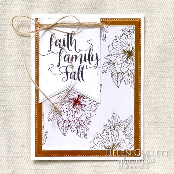 I have couple fall cards with gold and bronze colors. More details on my blog:  https://helengullett.com/?p=15630  Thank you!