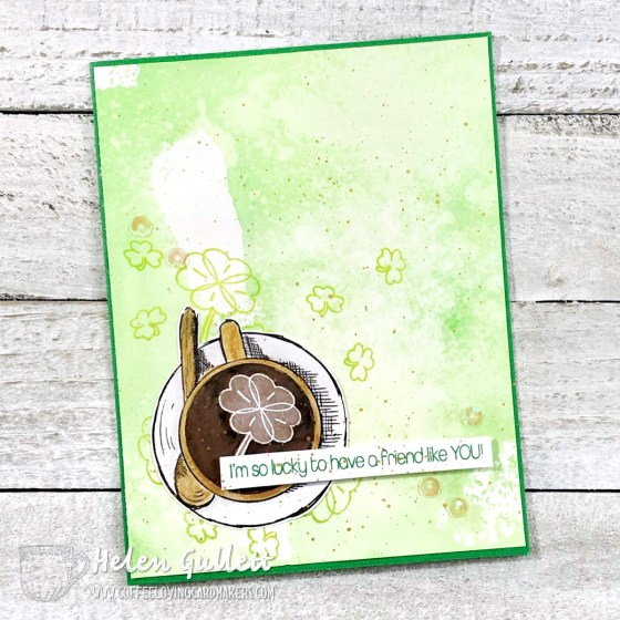 Lucky Coffee Loving Friend Card by Helen G. Designs. More details on the blog -- data-recalc-dims=