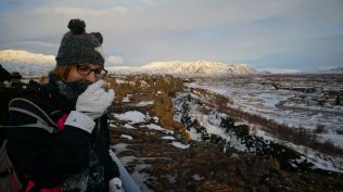 The tectonic plates - eating my scarf!
