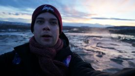 boyf's Geyser Selfie