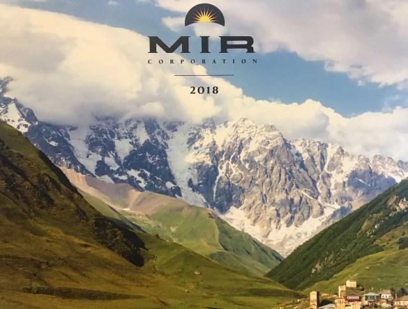MIR 2018 catalog cover