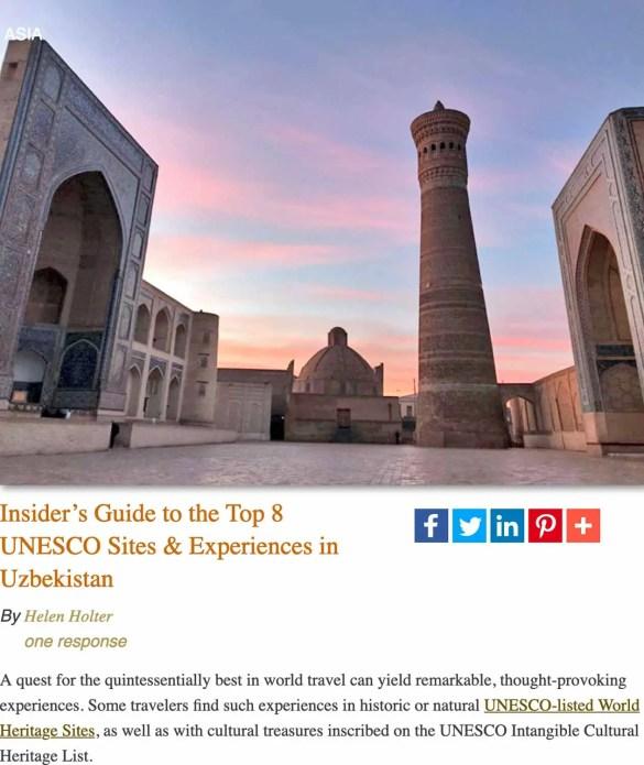 UNESCO highlights-Uzbekistan