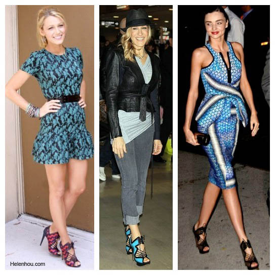 The Art of Accessorizing-HelenHou.com-Blake Lively, Sarah Jessica Parker and Miranda Kerr and their Nicholas Kirkwood Sandals