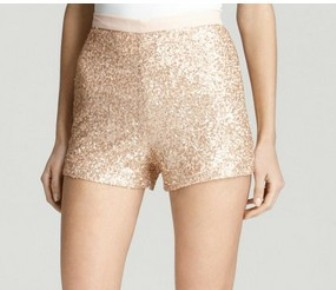 French Connection, mini sequins shorts, sequin pants, candice Swanepoel ,The Art of Accessorizing-HelenHou.com, dressy shorts