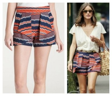 Olivia Palermo,Parker origami ruffle print silk shorts, print shorts, summer shorts, statement shorts,The Art of Accessorizing-HelenHou.com