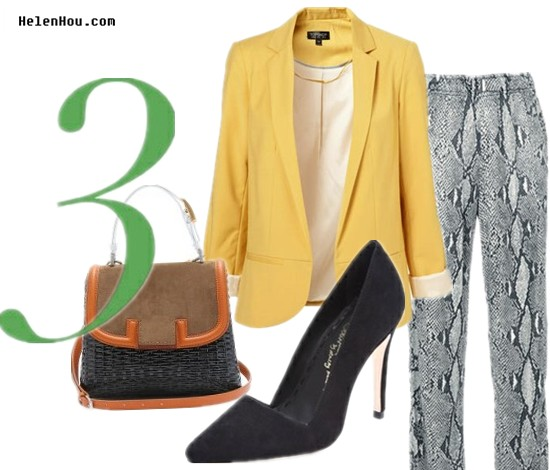 Python print pants,how to wear boyfriend blazer, how to wear yellow blazer,how to wear snakeskin pants,how to wear suede pumps, Topshop blazer,boyfriend blazer,colored blazer,yellow blazer,Gucci snakeskin pants,wide leg snakeskin pants,Alice + Olivia black suede pumps,Fendi bag,fendi SILVANA BAG WITH SNAKESKIN HANDLE,colorblock bag, helenhou, helen hou, the art of accessorizing, accessoriseart, celebrity style, street style, lookbook, model off-duty,red carpet looks,red carpet looks for less, fashion, style, outfits, fashion guru, style guru, fashion stylist, what to wear, fashion expert, blogger, style blog, fashion blog,look of the day, celebrity look,celebrity outfit,designer shoes, designer cloth,designer handbag,