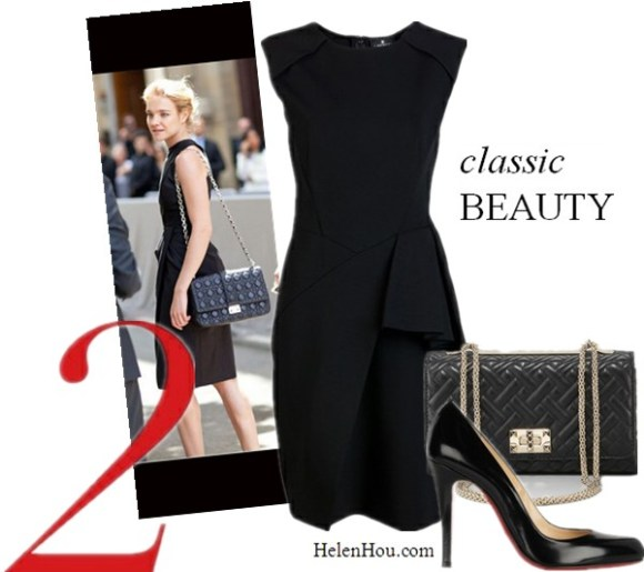 LBD,little black dress, how to accessorise black dress,what to wear with black dress,Natalia Vodianova,street style,paris fashion week, dior show J. MENDEL Techno black jersey dress,valentino flap top quilted chain bag, Christian Louboutin black pumps,  helenhou, helen hou, the art of accessorizing, accessoriseart, celebrity style, street style, lookbook, model off-duty,red carpet looks,red carpet looks for less, fashion, style, outfits, fashion guru, style guru, fashion stylist, what to wear, fashion expert, blogger, style blog, fashion blog,look of the day, celebrity look,celebrity outfit,designer shoes, designer cloth,designer handbag,