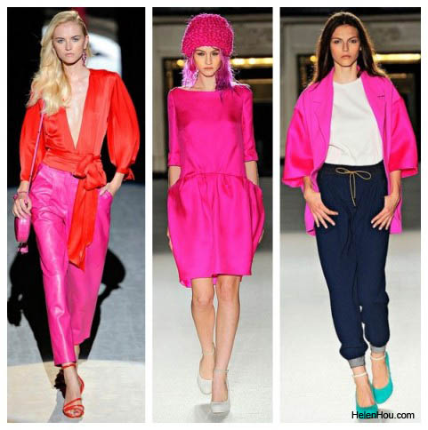 Salvatore Ferragomo,Roksanda Ilincic,spring 2012 runway,pink shirt,pink pants, pink hair, pink hat,pink coat,helenhou, helen hou, the art of accessorizing, accessoriseart, celebrity style, street style,