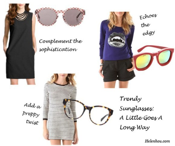 trendy sunglasses, how to wear sunglasses, mirror sunglasses, colorful sunglasses, cat eye sunglasses, Diane von Furstenberg dress, Stella McCartney sunglasses, Gryphon sailor dress, Warby Parker glasses, Markus Lupfer vampire lip sweater, Wildfox classic mirrored sunglasses,   helenhou, helen hou, the art of accessorizing, accessoriseart, celebrity style, street style, lookbook, model off-duty,red carpet looks,red carpet looks for less, fashion, style, outfits, fashion guru, style guru, fashion stylist, what to wear, fashion expert, blogger, style blog, fashion blog,look of the day, celebrity look,celebrity outfit,designer shoes, designer cloth,designer handbag,