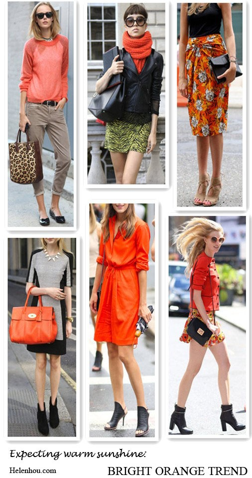 fashion week street style, orange sweater, orange knit scarf, orange floral skirt,orange Mulberry bag,orange dress, orange ensemble,what to wear with orange,  helenhou, helen hou, the art of accessorizing, accessoriseart, celebrity style, street style, lookbook, model off-duty,red carpet looks,red carpet looks for less, fashion, style, outfits, fashion guru, style guru, fashion stylist, what to wear, fashion expert, blogger, style blog, fashion blog,look of the day, celebrity look,celebrity outfit,designer shoes, designer cloth,designer handbag,