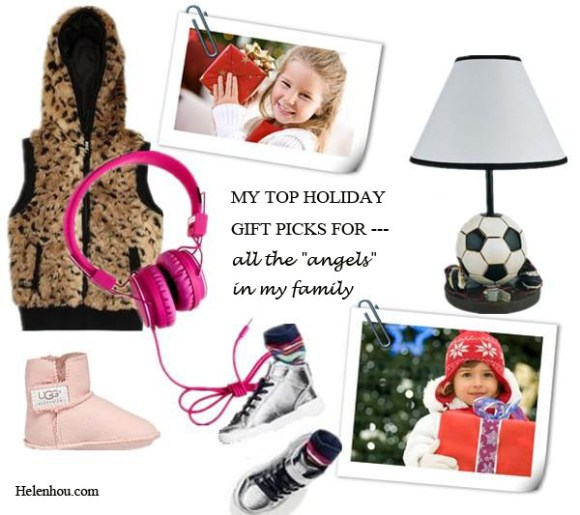 "My Top Holiday Gift Picks For Every Family Member, For the ""angels"", FOREVER21 girlsFaux Leopard Fur Vest,  J.CrewKids' Urbanears™ headphones,   Target Ore InternationalSoccer Table Lamp,  H&M imitation leather sneakers,  UGG AustraliaInfant's Erin Bootie , helenhou, helen hou, the art of accessorizing, accessoriseart, celebrity style, street style, lookbook, model off-duty,red carpet looks,red carpet looks for less, fashion, style, outfits, fashion guru, style guru, fashion stylist, what to wear, fashion expert, blogger, style blog, fashion blog,look of the day, celebrity look,celebrity outfit,designer shoes, designer cloth,designer handbag,"