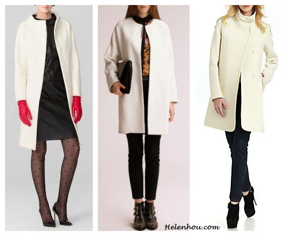 Olivia Palermo, white short sleeve coat, how to wear a short sleeve coat, what to wear with white coat, wear white in winter, black sweater, leather pants, cap toe flats, cobalt suede pumps,  helenhou, helen hou, the art of accessorizing, accessoriseart, MillyMilly Claudine Coat ,  Oasap@Oasap LimitedSimple Round Neck Wool Coat,  RUDSAK@Saks Fifth AvenueLeather-Trim Back Pleat Coat/Off White ,  celebrity style, street style, lookbook, model off-duty,red carpet looks,red carpet looks for less, fashion, style, outfits, fashion guru, style guru, fashion stylist, what to wear, fashion expert, blogger, style blog, fashion blog,look of the day, celebrity look,celebrity outfit,designer shoes, designer cloth,designer handbag,