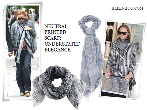 Miranda Kerr, Olivia Palermo , Stella McCartney,winter scarf, how to wear a winter scarf, how to choose scarf, grey scarf, brown infinity scarf,  Stella McCartney printed scarf, houndstooth printed jacket, silk square scarf, MAX MARA logo print scarf, Stella McCartney@Saks Fifth AvenuePython Print Scarf, ,   helenhou, helen hou, the art of accessorizing, accessoriseart, celebrity style, street style, lookbook, model off-duty,red carpet looks,red carpet looks for less, fashion, style, outfits, fashion guru, style guru, fashion stylist, what to wear, fashion expert, blogger, style blog, fashion blog,look of the day, celebrity look,celebrity outfit,designer shoes, designer cloth,designer handbag,
