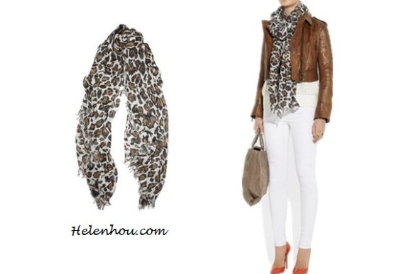 Heidi Klum, Miranda Kerr ,Ana Beatriz Barros,colored leopard scarf,red leopard scarf, purple leopard scarf,skinny jeans, olive blazer, balenciaga leather jacket,j brand coated red skinny jeans, off shoulder sweater,how to wear leopard scarf, stylish fall/winter outfit,prada floral tote, Stella McCartney Leopard-Print Voile Scarf ,   helenhou, helen hou, the art of accessorizing, accessoriseart, celebrity style, street style, lookbook, model off-duty,red carpet looks,red carpet looks for less, fashion, style, outfits, fashion guru, style guru, fashion stylist, what to wear, fashion expert, blogger, style blog, fashion blog,look of the day, celebrity look,celebrity outfit,designer shoes, d	esigner cloth,designer handbag,