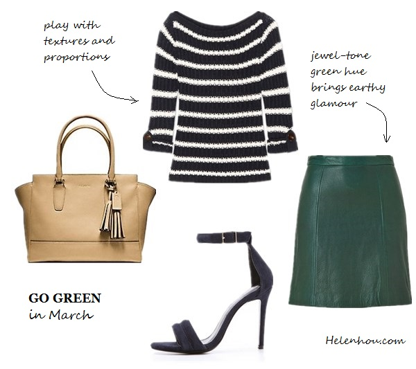 Emmy Rossum,Nicole Warne ,Olivia Palermo, how to wear green, what to wear with green,Reiss green blazer, yellow skinny jeans, colorblock bag, ANYA HINDMARCH Bathurst Bow leather tote,gray sweater, white tee, cap toe pumps, dark green leather skirt, dior leather bag, ankle strap green pumps,  Patricia Chang black and white coat, MARC JACOBS Glossed-leather Mary Jane pumps,  Skirt:DKNY USBottle Green Leather Skirt , Coach - Legacy Leather Medium Candace Carryall Sv/black ,  Nicholas Jocelyn Suede ankle strap Sandals,  Tory Burch Lillian stripes sweater , helenhou, helen hou, the art of accessorizing, accessoriseart, celebrity style, street style, lookbook, model off-duty,red carpet looks,red carpet looks for less, fashion, style, outfits, fashion guru, style guru, fashion stylist, what to wear, fashion expert, blogger, style blog, fashion blog,look of the day, celebrity look,celebrity outfit,designer shoes, designer cloth,designer handbag,