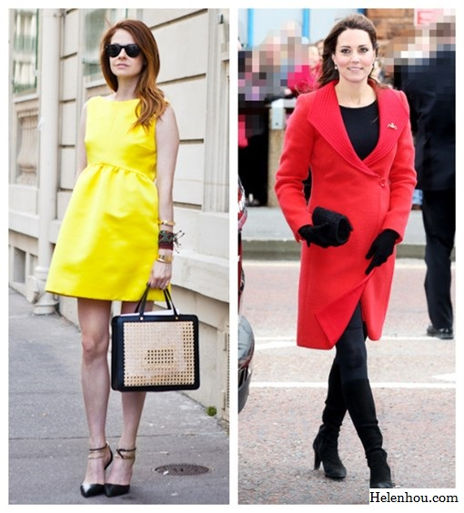 Chic Maternity Style, pregnant outfits, Kate Middleton,Violaine Bernard ,Stephanie LaCava,red Armani coat , Aquatalia knee-high suede boots,lemon Roksanda Ilincic dress,colorblock tote, ankle strap pump, layered bracelet, jeweled brooch,black beanie, black silk strap top, jbrand maternity skinny jeans, black maternity dress, floral print wrap belt,   helenhou, helen hou, the art of accessorizing, accessoriseart, celebrity style, street style, lookbook, model off-duty,red carpet looks,red carpet looks for less, fashion, style, outfits, fashion guru, style guru, fashion stylist, what to wear, fashion expert, blogger, style blog, fashion blog,look of the day, celebrity look,celebrity outfit,designer shoes, designer cloth,designer handbag,