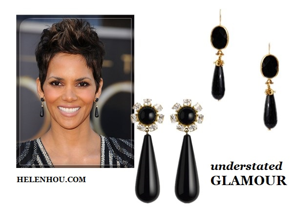 Statement drop earrings, Earrings Natalya Rovner, Halle Berry, Amanda Seyfried,Minka Kelly,Nina Dobrev ,Lily Collins, Miranda Kerr,blue diamond earring, one shoulder maxi dress,princess earrings,blue lace dress, black drop earring, black and white tribal print dress, Linear Crystal Earrings,black Teardrop Earrings, black stone earring, orange dress, gold earrings, red lip, ASHAElse Teardrop Earrings,  Ottoman Hands Drop From Stone Earrings, helenhou, helen hou, the art of accessorizing, accessoriseart, celebrity style, street style, lookbook, model off-duty,red carpet looks,red carpet looks for less, fashion, style, outfits, fashion guru, style guru, fashion stylist, what to wear, fashion expert, blogger, style blog, fashion blog,look of the day, celebrity look,celebrity outfit,designer shoes, designer cloth,designer handbag,
