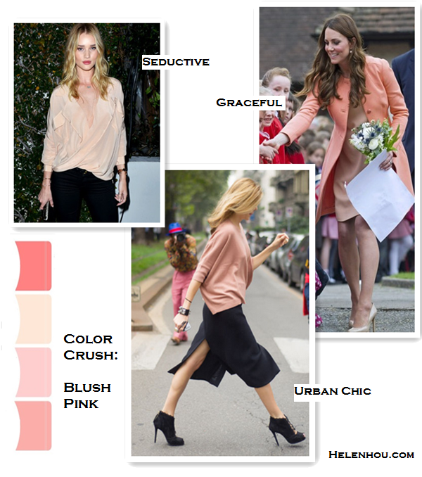 how to wear peach, coral, rose and dusty pink color, Rosie Huntington-Whiteley, Kate Middleton ,Milan street style,Funktional Software ligtht pink sheer Fold Front Blouse,Mother Denim  black skinny Looker jeans, B Brian Atwood strap Sandal, Jacqui Aiche gold jewelry, Tara Jarmon peach coral coat, L.K. BennettAvona Long Roll Clutch,L.K.Bennett nude Pumps,peach coral dress, maternity style, dusty pink sweater, black skirt with slip, lace up booties, Milan fashion week, spring outfit idea,    helenhou, helen hou, the art of accessorizing, accessoriseart, celebrity style, street style, lookbook, model off-duty,red carpet looks,red carpet looks for less, fashion, style, outfits, fashion guru, style guru, fashion stylist, what to wear, fashion expert, blogger, style blog, fashion blog,look of the day, celebrity look,celebrity outfit,designer shoes, designer cloth,designer handbag,