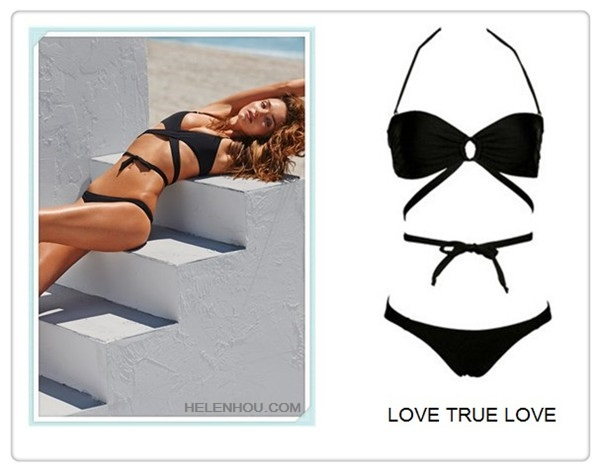2013 swimwear trend; hottest swimsuit; Featured: Love True Love Love Child Wrap Bandeau in Black