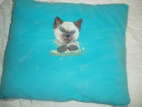 Anna Ming  Siamese Cat Pillow