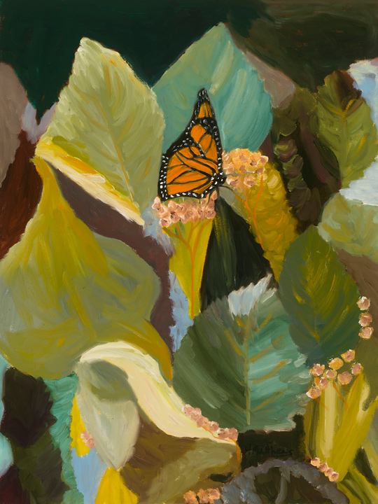 Butterflies Are Free 18X24, oil on canvas, Painter Helen Matthews