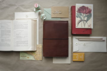 Discovery collection Hand crafted leather bullet journal cover