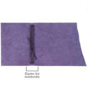 A5 Wrap – Tie Closure in Indigo Leather Cover