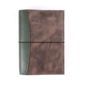 A5 Deluxe – Elastic Closure in Moss & Antique Brown Journal Cover