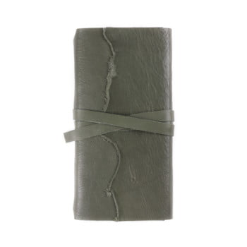 Slim Discovery Wrap Moss Tie leather cover