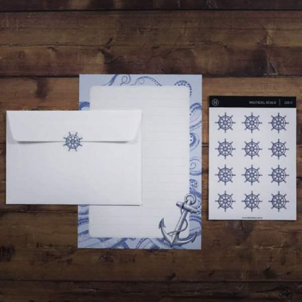 writing stationery nautical set