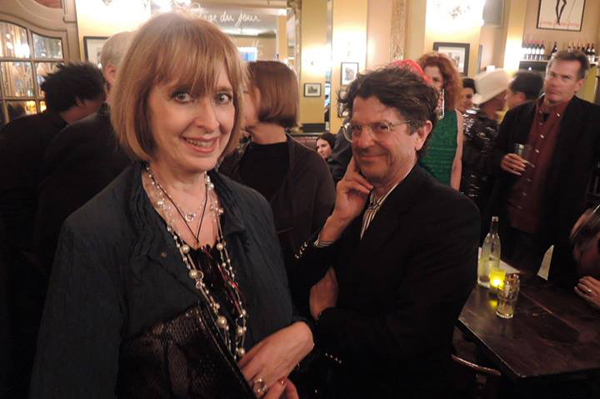 Helen Oppenheim with Michael Gross at Harry & Nancy's Fashion Reunion Party