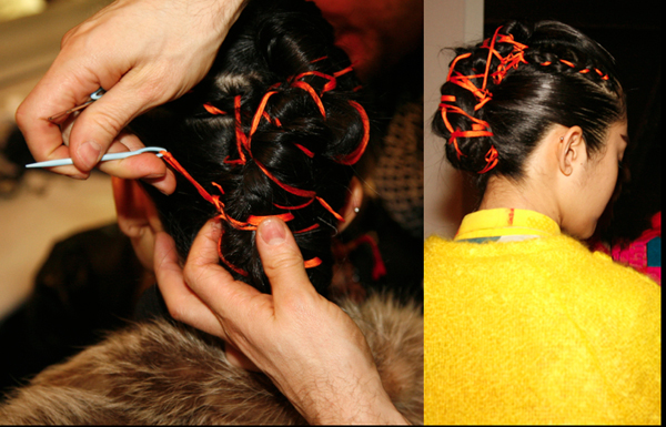 Messy Crocheted Hair NY Fashion Week - 2014