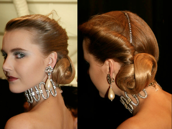 Glam Chic Chignon with Crystals – 2011