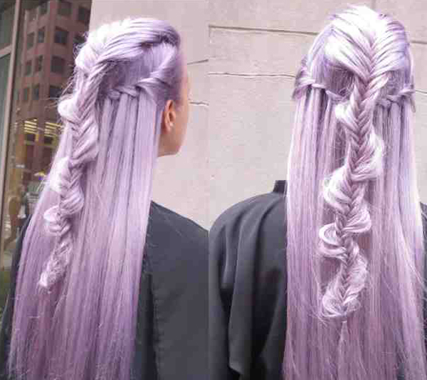 Violet Braids by Guy Tang @ Intercoiffure – 2015