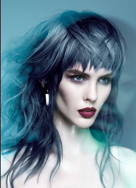 Hair Subtly Shaded in Mercury Blues – 2015