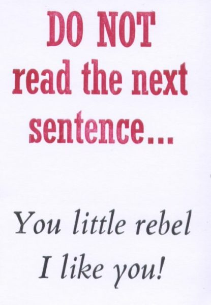 Letterpress Card – Rebel