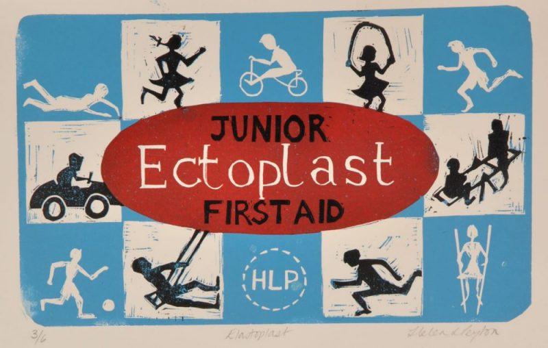 Elastoplast – 4 Colour Reduction Linocut