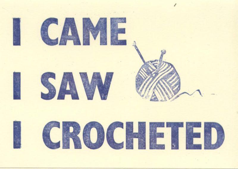 Letterpress Card – Yarndale Crocheted
