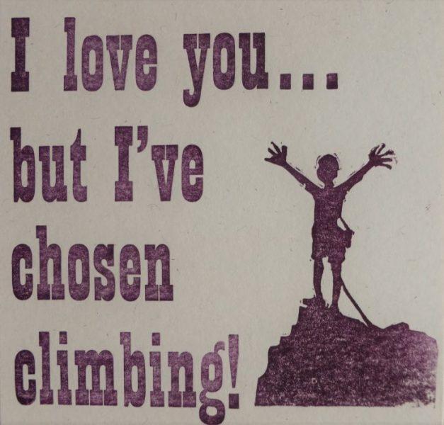 Letterpress Card – Love Climbing