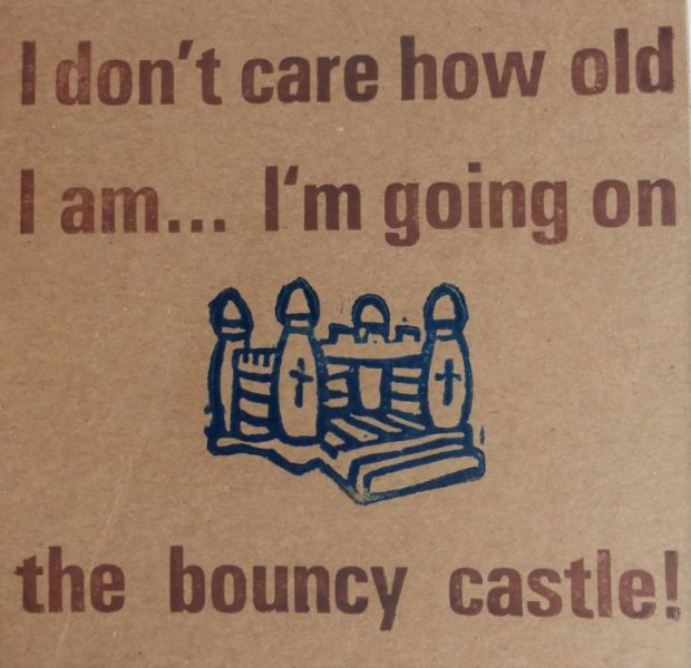 Letterpress Card – Bouncy Castle